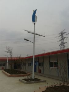 10m 100W LED Wind Turbine Solar Hybrid Street Lamp with WiFi (SHJ-LD100) pictures & photos