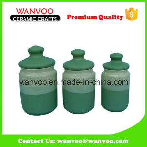 Ceramic Canister Set China Cheap Storage Jar Candy Cookie Jar pictures & photos