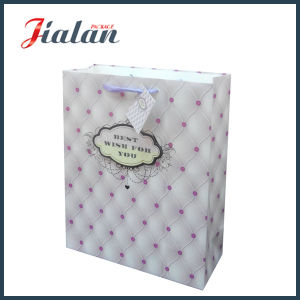 """3D """"Best Wish for You"""" Ivory Paper Gift Paper Handbags pictures & photos"""