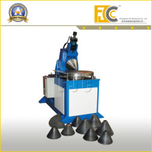 China Hydraulic Metal Cone Rolling Machine By Sheet Funnel