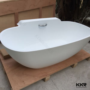 Kingkonree Solid Surface Freestanding Matt Black Bath Tub pictures & photos