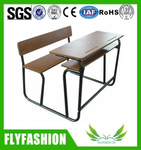 Classroom Furniture Wood Student Double Desk and Chair (SF-64) pictures & photos