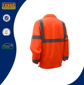 Hi Vis 100%Polyester Reflective Safety Waterproof Jacket with Breathable Lining pictures & photos