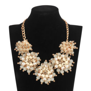 Big Acrylic 5 Flowers Necklace (XJW13600) pictures & photos