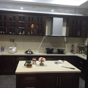 Face Frame Maple Solid Wood Kitchen Cabinets pictures & photos