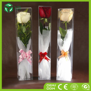 Custom Hotel Use False Flower Rose Plastic Packaging Box