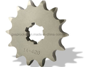 Fornt Motorcycle Sprocket for Suzuki Ax100 pictures & photos