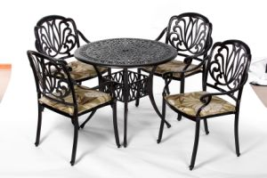 Leisurely Garden 5 PC Dining Aluminum Furniture with Cushion pictures & photos