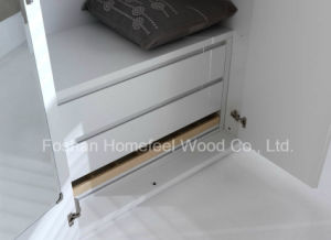 Wholesale White High Glossy Wardrobe with Hinged Door (HF-IK002) pictures & photos