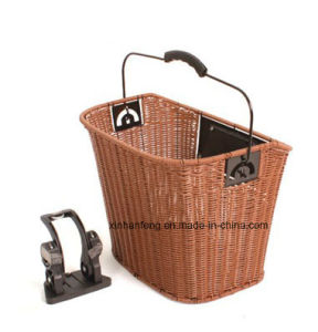 High Quality Wicker Bicycle Basket for Bike (HBG-133) pictures & photos