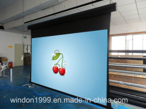16: 9 150 Inch Tab Tensioned Motorized Projection Screens pictures & photos