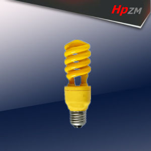 Half Spiral Light Yellow Energy Saving Bulb pictures & photos