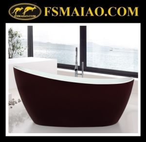 Red & White Special Design Acrylic Bathroom Freestanding Bathtub (9012) pictures & photos