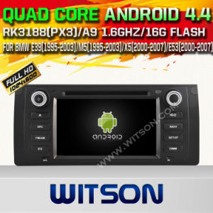 Witson Android 4.4 Car DVD for BMW E39 1995-2003 with A9 Chipset 1080P 8g ROM WiFi 3G Internet DVR Support (W2-A6965) pictures & photos