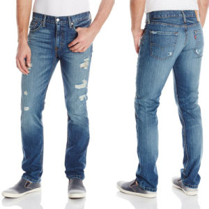 Hot Sell Men′s Relaxed Straight Cotton Fashion Jean