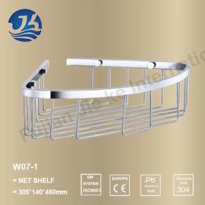 Bathroom Set Stainless Steel Wall Net Shelf (W07-1)