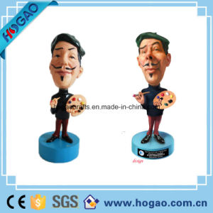 Polyresin Painter Bobble Head for Decoration (HG053) pictures & photos