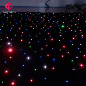 RGBW LED Star Cloth Curtain LED Starlit Curtain for Bar, Disco, Hot Party Decoration pictures & photos