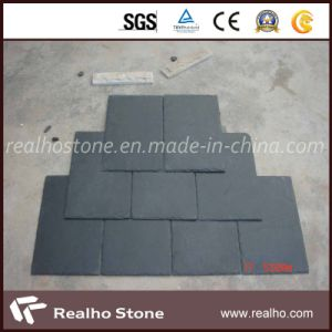 Nature Grey/Black Roofing Slate with Square /Half Round Design