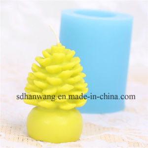 Lz0155 Christmas Pinecone Shape Silicone Candle Making Mold