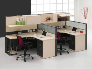 Hot Sale Office Cubicle with Overhead Cabinet and Shelves (HF-LT032) pictures & photos