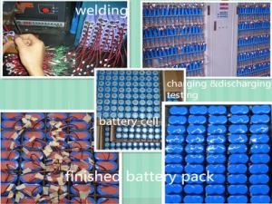 Wholesale Battery 18650 2s1p 3.7V 2600mAh 18650 Battery Pack pictures & photos