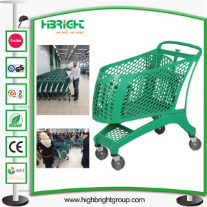 Supermarket Full Plastic Shopping Trolley Cart pictures & photos
