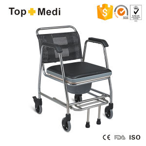 Topmedi Bathroom Safety Equipment Commode with Wheels pictures & photos