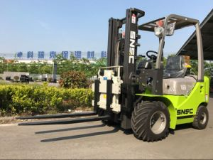 Snsc 1.8 Ton Diesel Forklift with Rotating Clamp pictures & photos