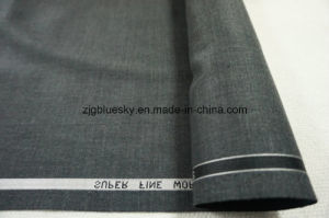 Dark Grey Wool Fabric for Suit with Viscose pictures & photos
