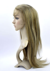 Customized PU Base High Density Mix Color Remy Human Hair Full Lace Wig pictures & photos