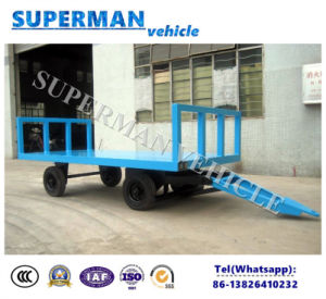 2t Utility Flatbed Industrial Cargo Transport Full Trailer pictures & photos