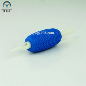 "Tattoo New Disposable 1"" Blue Rubber Grips with White Tip Tg-R25-75 pictures & photos"