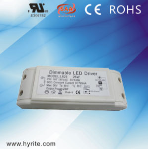 0-10V Dimmable 500mA 26W LED Lighting Driver pictures & photos
