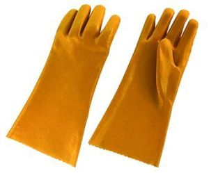Yellow PVC Industrial Glove with CE Certificate-5108 pictures & photos