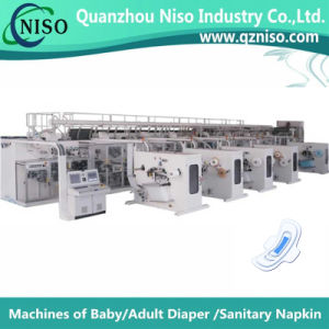 Full Servo Automatic Lady Ultra-Thin Sanitary Napkin Machinery with Ce Certification pictures & photos