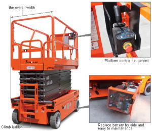 Compact Structure Full Electric Scissor Aerial Work Platform pictures & photos