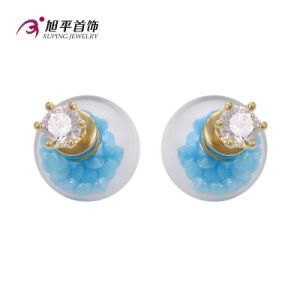 E-164 Xuping Fashion 14k Gold-Plated CZ Diamond Imitation Jewelry Glass Bead Earring pictures & photos
