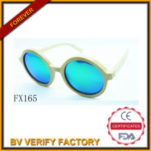 Round Bamboo Sunglasses&Wooden Sunglasses (FX165) pictures & photos