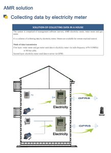 AMR Solution - Collecting Data by Electricity Meter