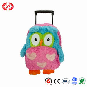 Fancy Fluffy Plush Owl Bagpack Kids Gift Travel Trolley Bag pictures & photos