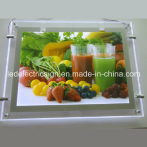 Super Slim Acryli Crystalc Advertising LED Light pictures & photos
