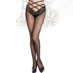V Lace Line & Lace-up Panty Hose 9821 pictures & photos
