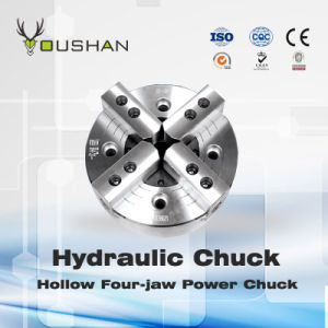 Hollow Four-Jaw Power Chuck pictures & photos