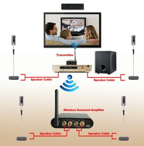 Wireless Surround Amplifier for Home Theater System pictures & photos