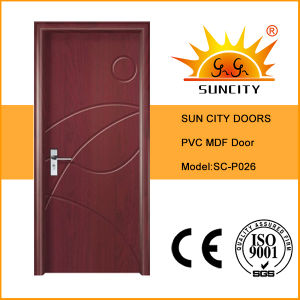 Carving Design Wood PVC Door Interior (SC-P026) pictures & photos