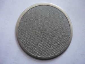 304 Stainless Steel Metal Mesh Framed Industrial Round Filter Disc pictures & photos