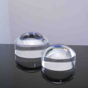 Crystal Hemisphere Magnifying Glass Decoration Convex Lens Optical Paperweight pictures & photos