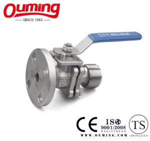 2PCS Flange Ball Valve with Threaded End pictures & photos