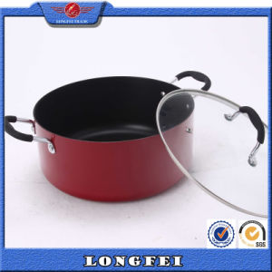 Aluminum Casserole with Stainless Steel Handle and Knob pictures & photos